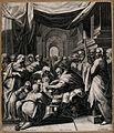 Christ is circumcised in a crowded church. Engraving by A. S Wellcome V0034631.jpg