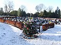 Christmas Day 2009 at Bushbury Crematorium - geograph.org.uk - 1632388.jpg