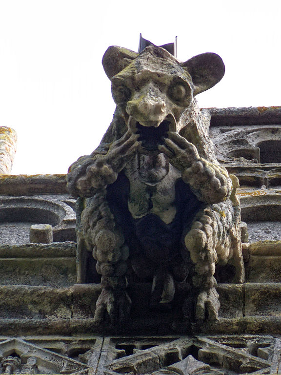 Gargoyle on the Church of the Holy Cross, Great Ponton, Lincolnshire