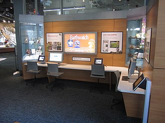 Citizen science - Citizen Science Center exhibit in the Nature Research Center wing of the North Carolina Museum of Natural Sciences