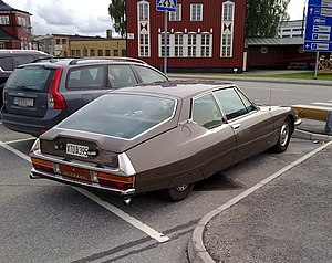 Citroen SM in Stockholm rear.jpg