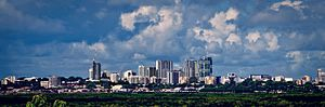 Darwin, Northern Territory - The Darwin skyline seen from Bayview