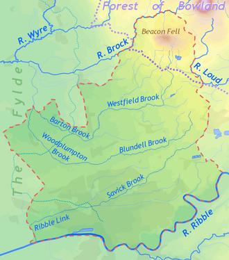City of Preston, Lancashire - Topography of the City of Preston