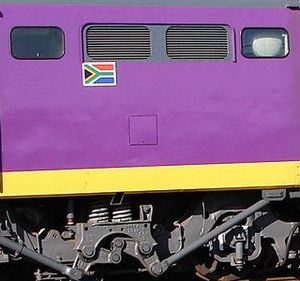 South African Class 6E1, Series 7 - Hatchless left side of Series 7 no. E1834
