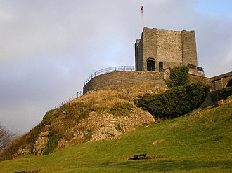 Listed buildings in Clitheroe - Image: Clitheroe Castle geograph.org.uk 1100108