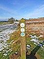 Close up of waymarker on Jack Mytton Way - geograph.org.uk - 655983.jpg