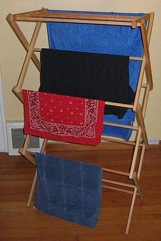 Clothes horse - A clothes horse