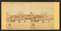 Coaches, horseback rider and people on the beach and houses in the distance, from Robert N. Dennis collection of stereoscopic views 2.png