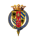 Coat of Arms of Federico da Montefeltro, Duke of Urbino, KG.png