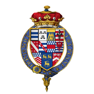 William Parr, 1st Marquess of Northampton - Arms of Sir William Parr, Marquess of Northampton, KG