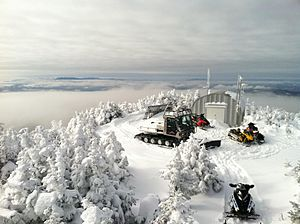 Coburn Mountain (Maine) - View of the Coburn Mountain Summit in winter.