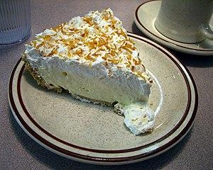 Cream pie - Image: Coconut cream pie