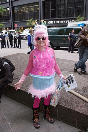 English: Code Pink at the Occupy Wall Street p...