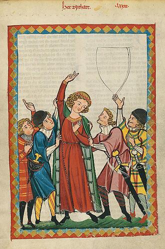 Neidhart von Reuental - Neidhart portrayed in the Codex Manesse, about 1300