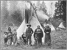 Coeur d'Alene people and tipis, Desmet Reservation, c. 1907.jpg