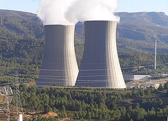 Cofrentes - Cofrentes nuclear power plant cooling towers