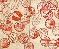 Collectional rubber stamps in Taiwan Showa period 01.jpg