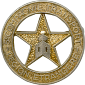 5th Heavy Weight Transport Company (CTGP) - Insignia of the 5e CTGP