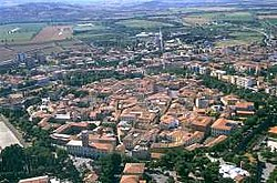Aerial view of Grosseto