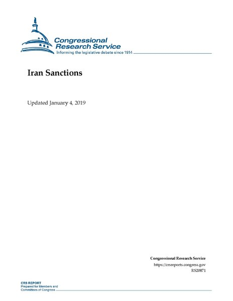 File:Congressional Research Service Report RS20871 - Iran Sanctions.pdf