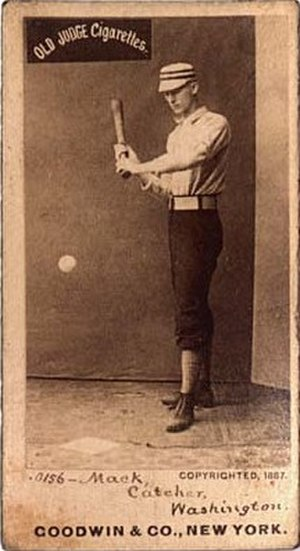 Connie Mack - Connie Mack 1887 baseball card