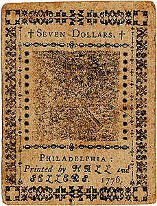 Continental Currency $7 banknote reverse (May 9, 1776).jpg