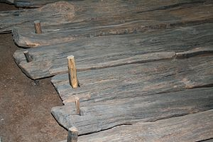 Corlea Trackway - Wooden planks and nails