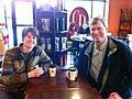 Council President Sally Clark with Representative Pat Sullivan (8268663928).jpg