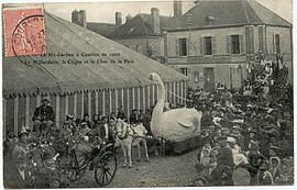 The celebration of the third thursday in Lent, in 1906, in Courlon