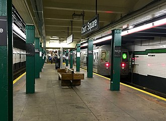G (New York City Subway service) - The northern terminus of the G train at Court Square