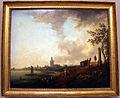 Cristian hilfgott brand, veduta di città con mare calmo, 1750 ca. (germania).JPG