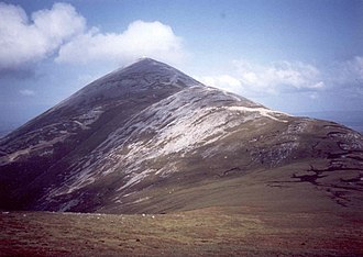 Croagh Patrick - Image: Croagh Patrick, the saddle on the western flanks geograph.org.uk 605872