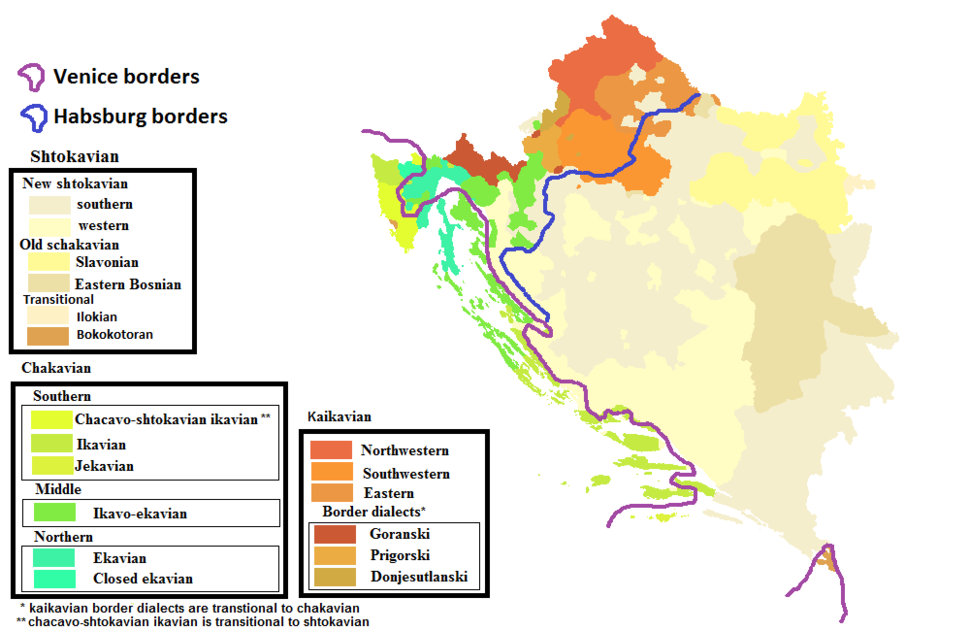Croatian dialects and the borders of 1606