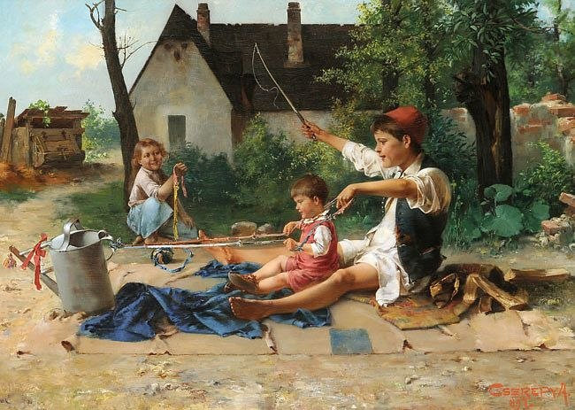 Cserépy Children playing 1897