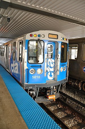 Chicago Transit Authority 'L' car number 5010 ...