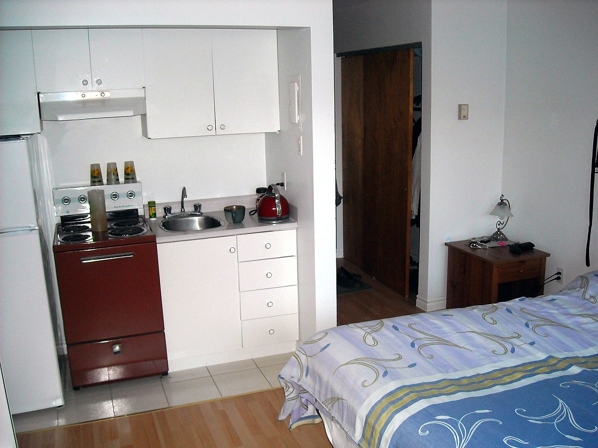 Kitchenette wikipedia for Kitchenette layout