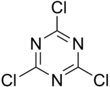 Strukturformel von Cyanurchlorid