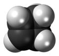 Cyclobutene molecule spacefill.png