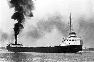 SS <i>D.R. Hanna</i> 552-foot steel freighter that sank on Lake Huron in 1919