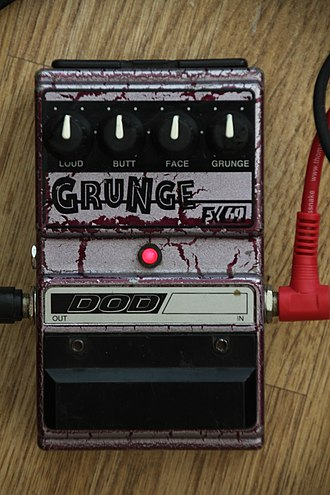 DOD Electronics - DOD Grunge Distortion -guitar effect pedal.