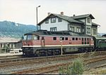 DR 132 553 with P-Zug at Wasungen to Eisenach. Aug 1991.jpg