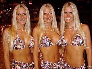 Nicole, Erica and Jaclyn Dahm American models