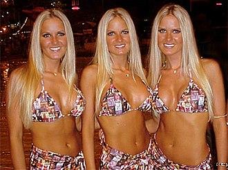 Nicole, Erica and Jaclyn Dahm - Dahm triplets in 1998