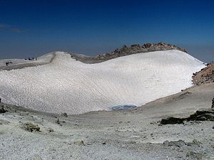 Mount Damavand - Damavand volcanic crater in August 2009