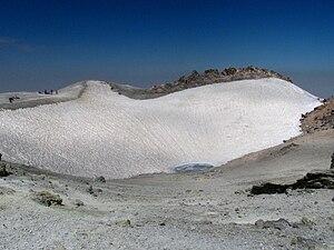 Mount Damavand - Damavand volcanic crater in August 2009