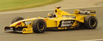 Benson & Hedges - Damon Hill driving for Jordan Grand Prix at the 1999 British Grand Prix. Notice the alternative livery used.