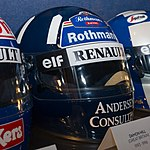 Damon Hill helmet 2017 Williams Conference Centre.jpg