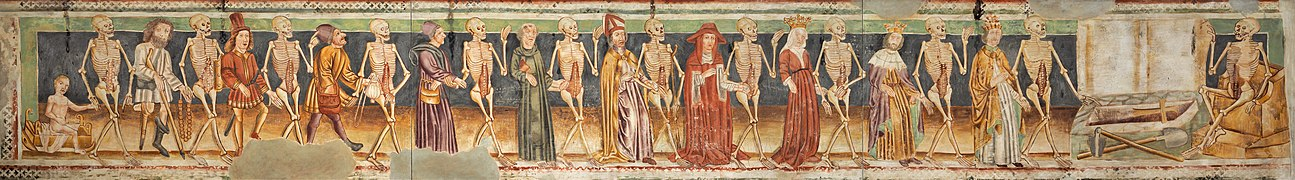 Dance of Death (replica of 15th century fresco; National Gallery of Slovenia).jpg