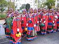 Dancers wearing traditional dress of the Banjara Lamadi or Lambani tribe in Andhra Pradesh DSCF7370 (4).JPG