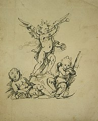 Group of three putti